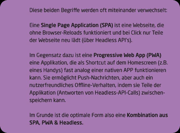 Infokasten SPA PWA