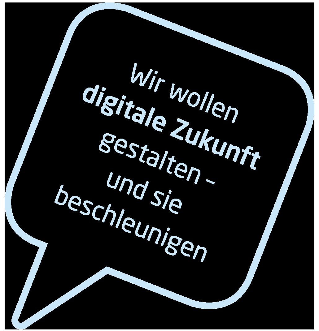 Sprechblase digitale Zukunft